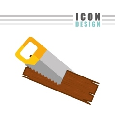 construction icon design vector image vector image