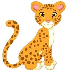 Cute cheetah cartoon vector image vector image