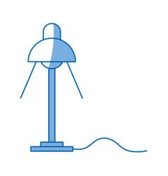 desk lamp light bulb electric design vector image vector image