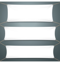 Empty White Banners vector image vector image
