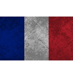 French Flag Grunge vector image vector image