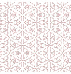 geometric contour pattern on white background vector image