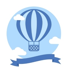 Hot Air Balloon Background vector image