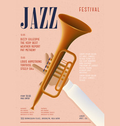 jazz poster template for musical concert placard vector image