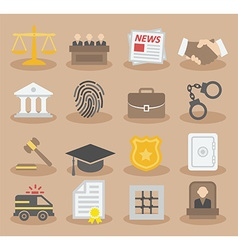 Law colorful icons vector image
