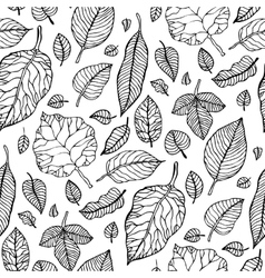 Leaves Seamless background vector image vector image