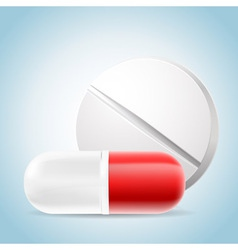 medicalpillseps vector image