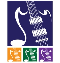 stylized guitar vector image vector image