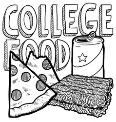 College food vector image