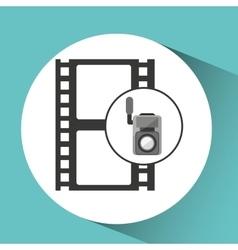 movie video camera strip film icon vector image