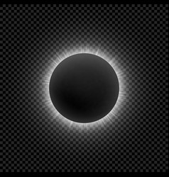 Realistic moon eclipse for your design vector