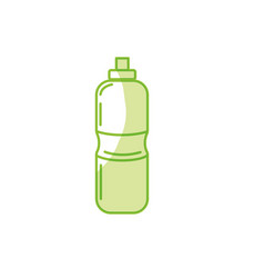 Silhouette bottle of water to reshness in the gym vector