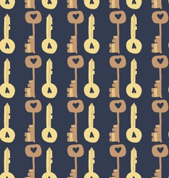 Adorable Love Keys seamless pattern vector image vector image