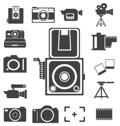 Camera new and retro icon vector image vector image