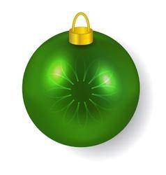 Green Christmas ball reflecting light New Year vector image vector image