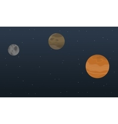 Planet sky outer space landscape vector