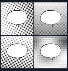 set of oval retro style speech bubble pop art vector image vector image