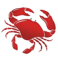 boiled red crab shellfish vector image vector image