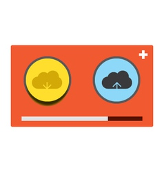 Cloud download and upload 26 vector image vector image