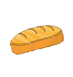 Drawing bread dessert food shadow vector