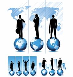 global business set vector image vector image