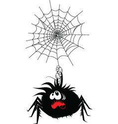 Scared spider vector image vector image