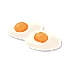 Scrambled eggs lunch plate on white background vector image