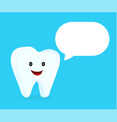 strong happy healthy white tooth talking vector image vector image
