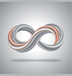 3d infinity symbol Abstract math background vector image