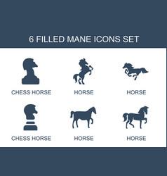 6 mane icons vector