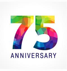 75 anniversary color logo vector