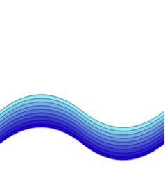 Abstract background from blue layer stripes vector