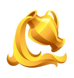 Aquarius zodiac sign golden horoscope symbol vector