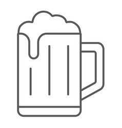Beer thin line icon drink and alcohol lager sign vector