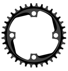Bicycle chainring 36 tooth isolated mtb vector