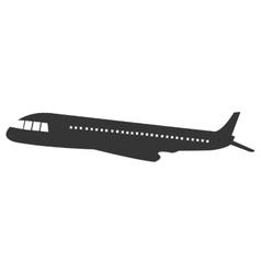 black airplane design graphic vector image