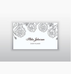 business card template design element can vector image