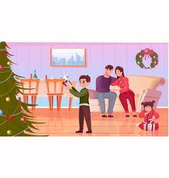 christmas flat vector image