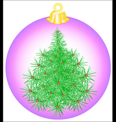 Christmas-tree toy ball vector