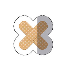 Color bands aids icon vector