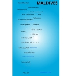 Color map of maldives country vector
