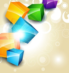 colorful box background vector image