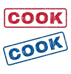 Cook rubber stamps vector