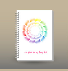 Cover of diary or notebook sketchbook vector