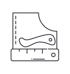 Crease marker concept icon linear isolated vector