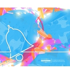 Creative bell Art template vector