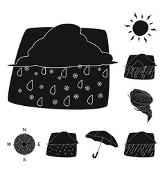 Design of weather and climate icon set of vector