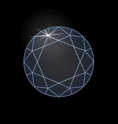 diamond shine vector image