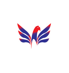 eagle head with wings slogan logo vector image