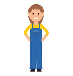 female builder worker character vector image